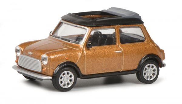 Schuco   Mini Cooper golden brown metallic with open folding roof