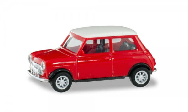 Herpa   Red Mini Cooper and additional headlights