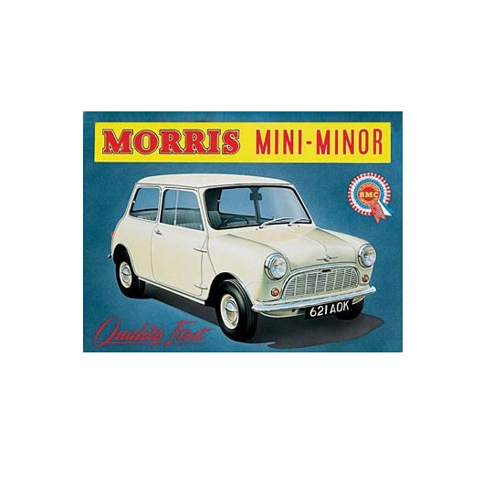 FTTD | Morris Mini Minor Stahlblechschild