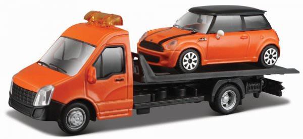 Bburago | MINI Cooper S auf IVECO Daily Transporter orange