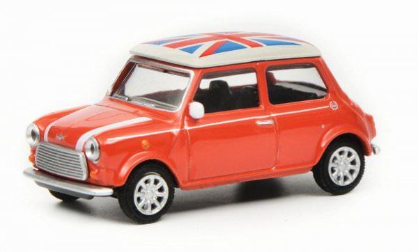 Schuco | Mini Cooper mit Union Jack Dach rot