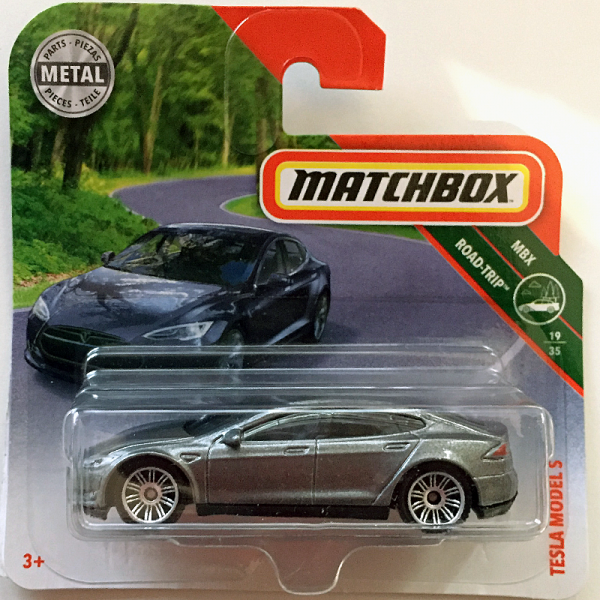 Matchbox | Tesla Model S silber