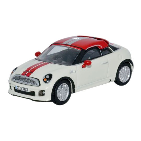 Oxford Diecast | BMW MINI Coupe weiß / rot