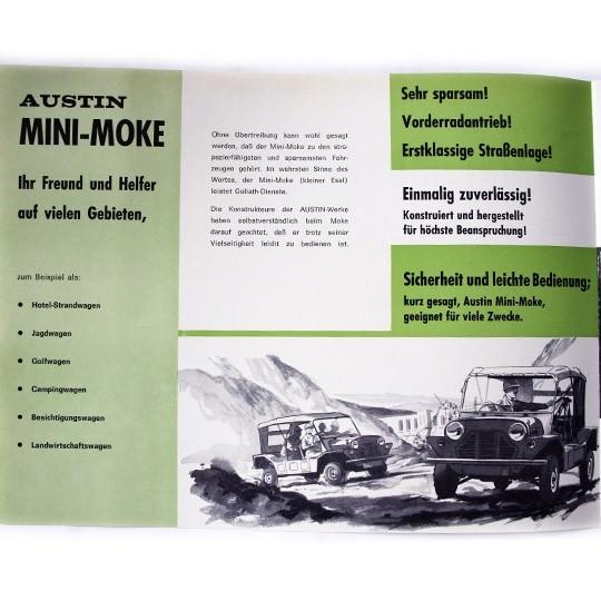 Austin Mini Moke Prospekt