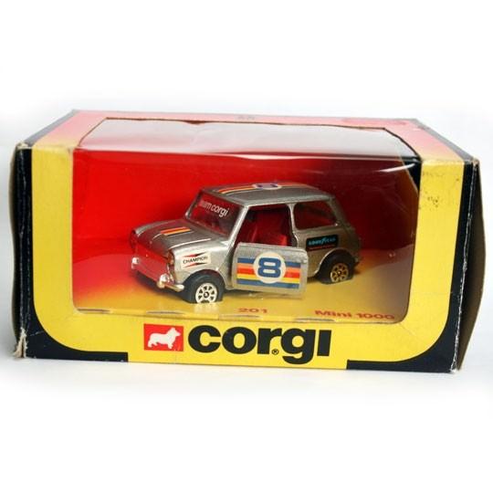 Corgi | No 201 Mini 1000 silber mit Anhängerkupplung