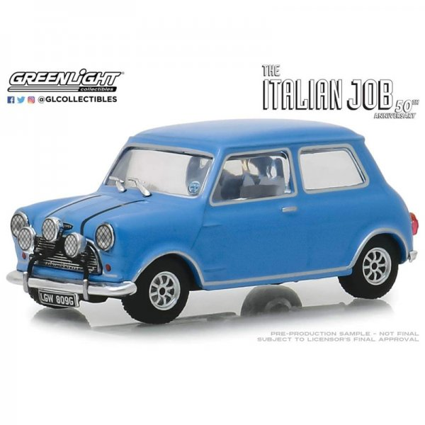 "Greenlight | 1967 Austin Mini Cooper S 1275 Mkl ""The Italian Job"" blau"