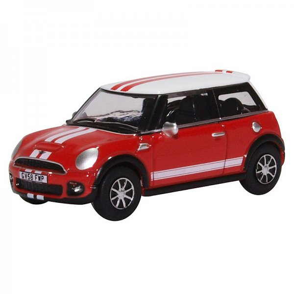 Oxford Diecast | BMW Mini Cooper S red with stripes