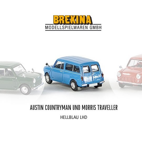 Brekina | Austin Mini Traveller light blue LHD