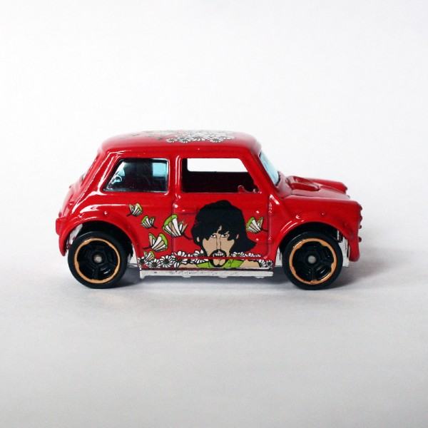 Hot Wheels | Morris Mini Beatles Yellow Submarine nicht vernietet