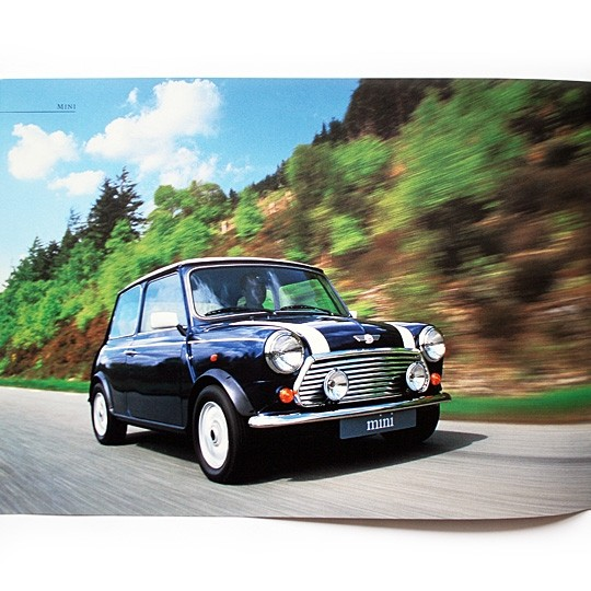Rover brochure with Minis