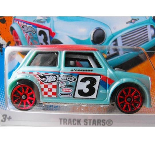 1 Hot Wheels Hw Track Stars Edition Morris Mini 3 Model Car Collect